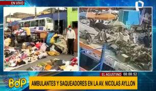 Caos y descontrol: ambulantes y saqueadores invaden avenida Nicolás Ayllón