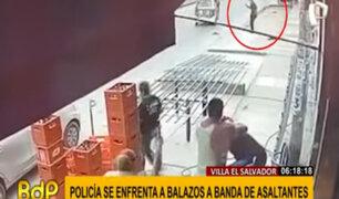 Balacera en VES: policía frustra asalto a distribuidora de bebidas
