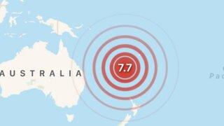 Terremoto de magnitud 7.7 activa alerta de tsunami en varias islas del Pacífico