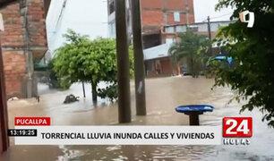 Calles y viviendas quedan inundadas por fuerte lluvia que duró 4 horas