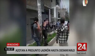 Enardecidos vecinos azotan a extranjero acusado de asaltar a una mujer