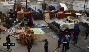 Surco: recuperan calle usada como acopio de basura