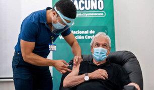 Presidente de Chile se une a lista de mandatarios del mundo en vacunarse contra la COVID-19
