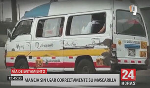 Panamericana TV detecta combi de servicio público que adeuda más de S/.13 mil en multas