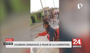 Jóvenes salen a las calles a celebrar carnavales en Piura