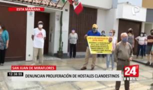 SJM: vecinos denuncian proliferación de hostales