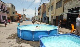 Más de S/2,000 de multa pagarán las personas que instalen piscinas en calles de Breña