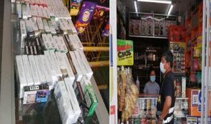Incautan miles de cigarrillos ilegales durante un amplio operativo  en bodegas de SJM