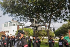 San Isidro: usan drones con megáfonos para advertir uso de mascarilla