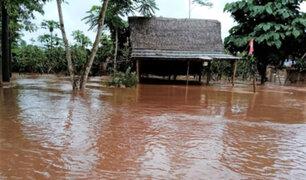 Más  de 300 viviendas  inundadas deja desborde de río Pichis en la región Pasco