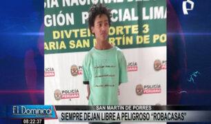 SMP: 'robocasas' es capturado en reiteradas veces pero sigue siendo puesto en libertad