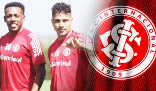 Paolo Guerrero volvió a entrenamientos con el Inter de Porto Alegre
