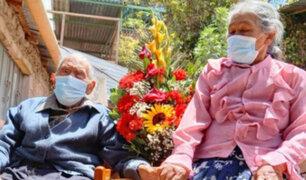 """Moquegua: Hombre de 109 años y su esposa de 81 celebran el """"Día del Amor"""""""