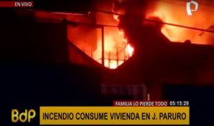 Incendio en el Cercado de Lima: al menos 20 familias afectadas en quinta del jirón Paruro
