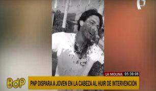 Ate: denuncian que policía disparó en la cabeza a joven que intentó huir de intervención