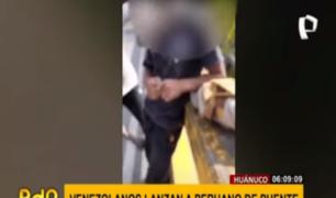 Joven huanuqueño fue lanzado desde un puente por extranjeros