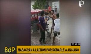 Iquitos: masacran a sujeto tras ser acusado de robar a anciano