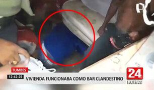 Vivienda funcionaba como bar clandestino en Tumbes