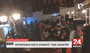 """Puerto Maldonado: intervienen a jóvenes en una fiesta de """"San Valentín"""""""