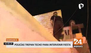Barranca: Policías trepan techo de una vivienda para intervenir una fiesta