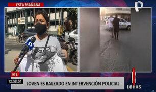 Joven herido de bala en Ate: Policía acusado se encuentra detenido en la Depincri