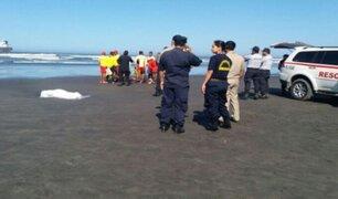 Tacna: agentes PNP rescataron cuerpo de mujer que perdió la vida en playa Meca