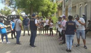Piura: Fiscalía encuentra niños extranjeros en condición de mendicidad en distintas avenidas