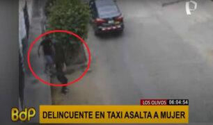Los Olivos: falso taxista amenaza con un arma a mujer y le roba su celular