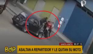 Santa Anita: asaltan a repartidor de delivery y le quitan su moto