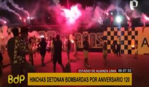Alianza Lima: hinchas celebran aniversario 120 con fuegos artificiales