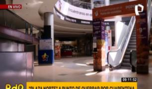 Preocupación en centros comerciales por cierre en cuarentena