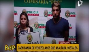 """""""Los hoteleros del Norte"""": cae banda de extranjeros en pleno asalto a hostal de Los Olivos"""