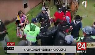 Cusco: agentes son agredidos por pobladores que celebraban una fiesta costumbrista