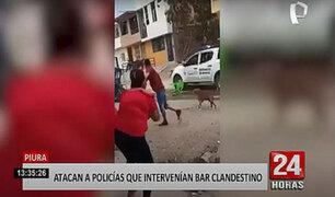 Piura: policías terminan huyendo de intervención que realizaron a bar clandestino