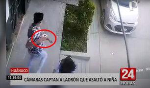 Huánuco: ladrón arrancha celular a niña cuando jugaba en la calle