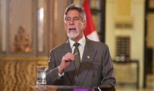 """Sagasti tras llegada de vacunas: """"Gobierno continúa trabajando sin descanso"""""""