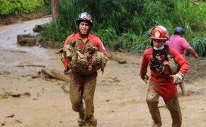 Cusco: Bomberos rescatan a perrito que quedó sepultado por huaico