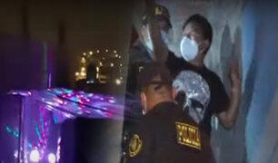 SJL: Denuncian Fiesta-covid frente a la comisaría de Bayóvar