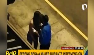 Miraflores: municipio separa a sereno que besó a intervenida