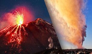 Volcán Etna entra en erupción y emite columna de humo de más de un kilómetro