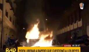 España: multitudinarias protestas por rapero condenado por tuitear contra monarquía