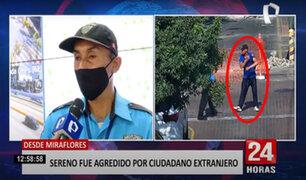 Miraflores: extranjero agrede a sereno porque no quiso colocarse la mascarilla