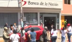 Beneficiarios denuncian caos y aglomeraciones en el primer día para cobrar el Bono 600