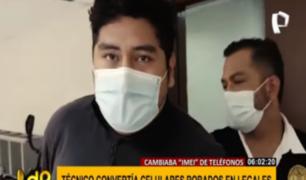Miguelón: cayó sujeto que 'convertía' celulares robados en legales
