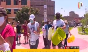 Ate: vecinos exigen solución a Sedapal tras cuatro días sin agua