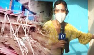 Muro de contención está a punto de colapsar en asentamiento humano de Chorrillos