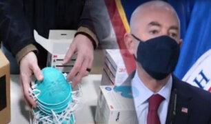 EEUU: Incautan un millón de mascarillas falsas que llegaron de China