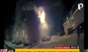 EEUU: huyen de incendio saltando por ventanas de edificio