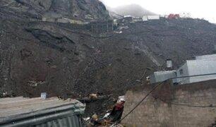Dos jóvenes murieron sepultados tras deslizamiento de tierra en Puno