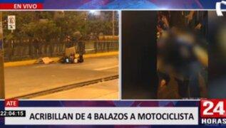 Sicarios en moto asesinaron a balazos a supuesto prestamista en Ate